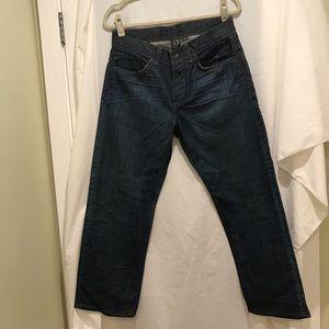 Men's new Armani exchange dark colored jeans